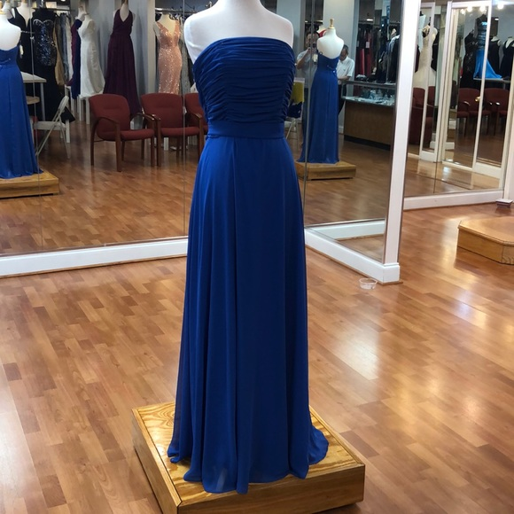 After Six Dresses & Skirts - Sapphire blue strapless formal dress